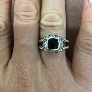 David Yurman Albion Black Onyx Ring